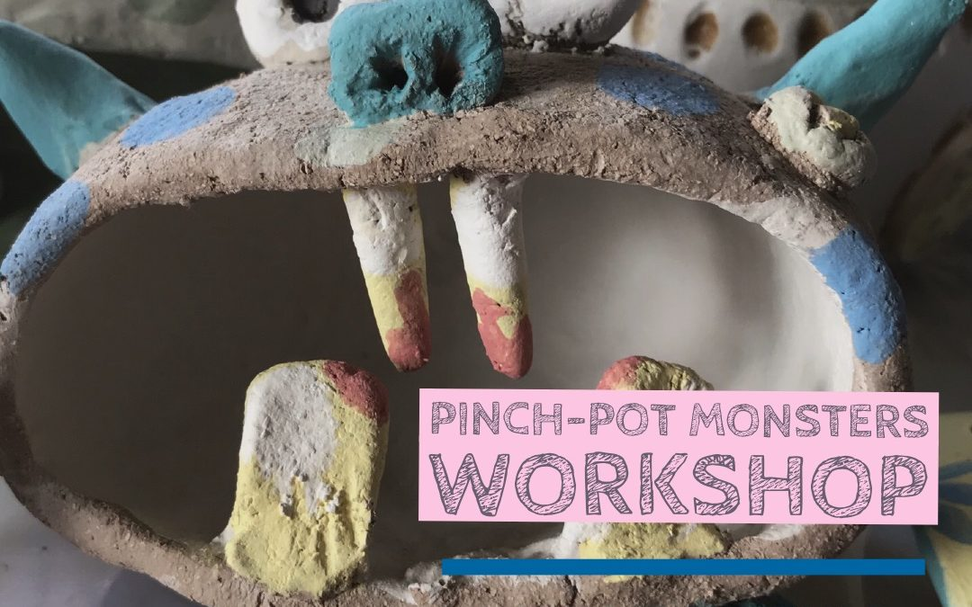 Monster Pinch Pot's – 1/2 day (Kids)