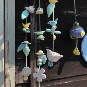 handmade ceramic windchime