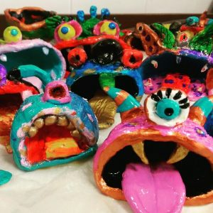 kids pottery monsters class