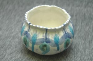 glazed pinch pot