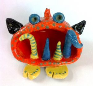 bright monster pinch pot